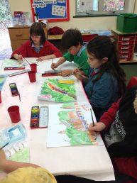 Railway landscape painting