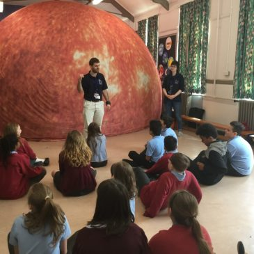 Maple class visiting the Sun dome