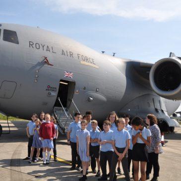 Maple Class visit RAF Brize Norton