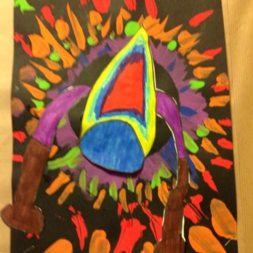 Art work inspired by Space – Maple Class