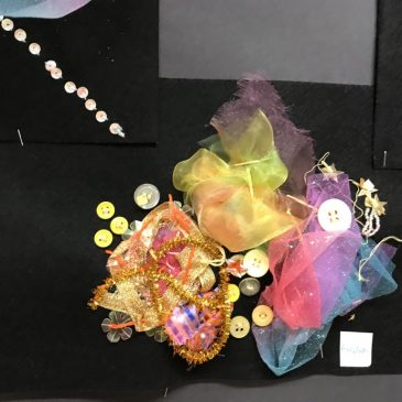 Textile work inspired by Space – Maple Class