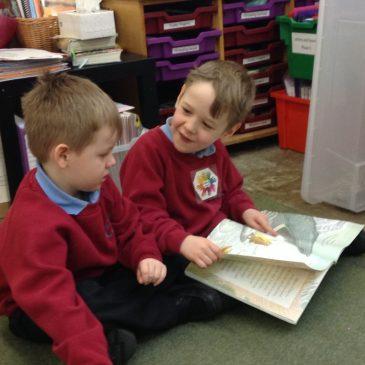 Sharing books in Oak Class