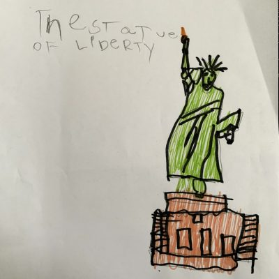 This is Snoee's picture of The Statue of Liberty.