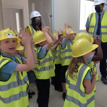 We visited the new building!