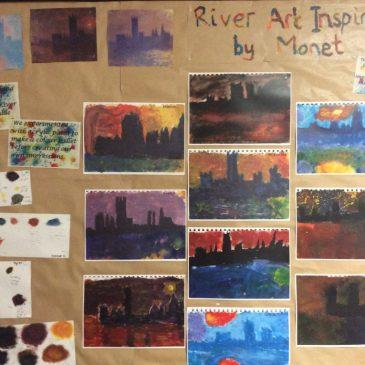River Art inspired by Monet – Maple Class